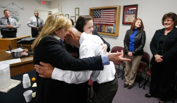 Image: Joseph Sledge was freed from prison Friday, after a panel of judges found that he was wrongly convicted