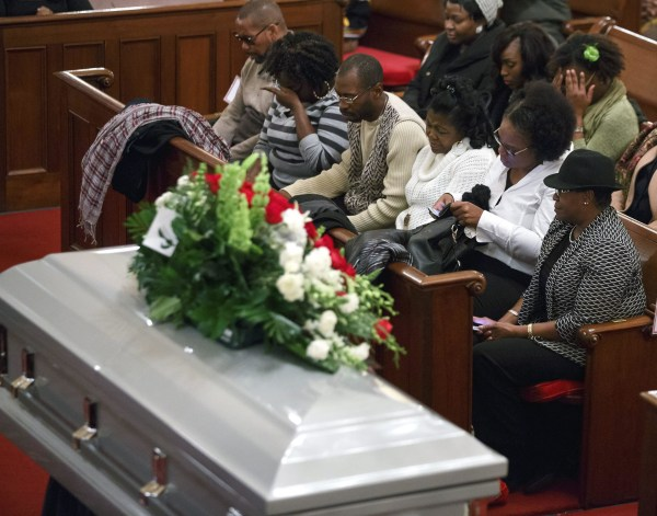 Image: Funeral of unarmed man Akai Gurley fatally shot by police in East New York
