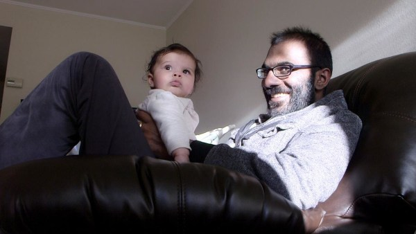 Paul Kalanithi with his daughter, Cady.