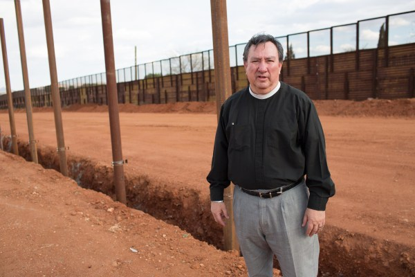 Image: Fr. Richard Aguilar, pastor of St. John's Epispicol Church in Bisbee, Arizona.