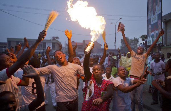 Image: Buhari supporters celebrate in Kano, Nigeria