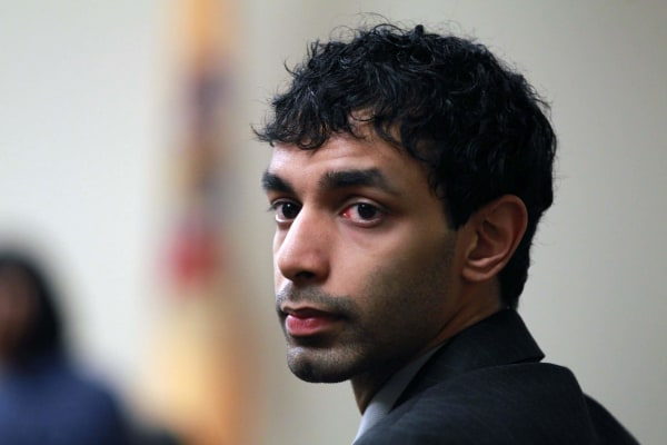 Image: Dharun Ravi, the former Rutgers University student waits before court proceedings