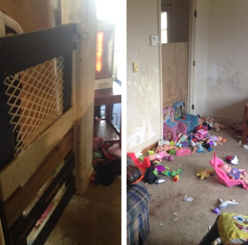 Image: Inside of the room where children were isolated