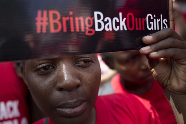 Image: Kenyan activist protests the kidnapping of Nigerian girls on May 15, 2014