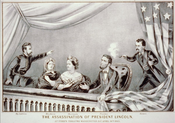 Image: Lithograph of Lincoln Assassination