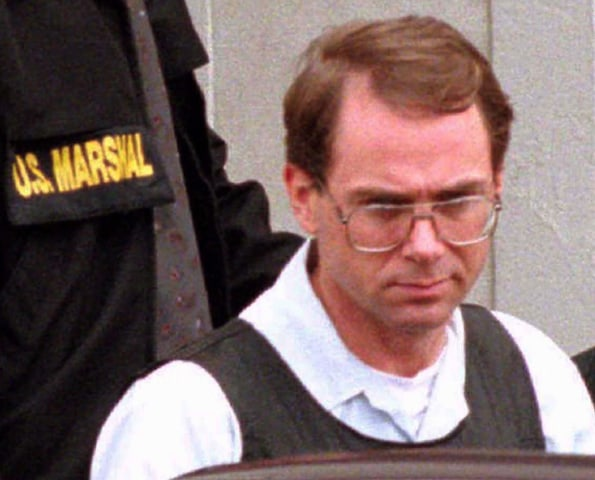 Image: Terry Nichols is pictured leaving the Federal Court Building in Wichita
