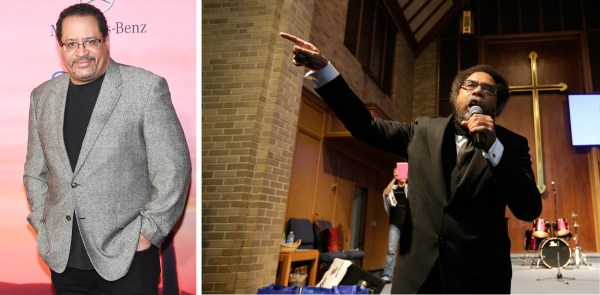 Image: Composite photo of Michael Eric Dyson and Dr. Cornel West