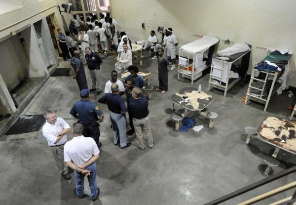 Image: The Iberia Parish Jail in New Iberia, Louisiana during a 2008 jail tour.