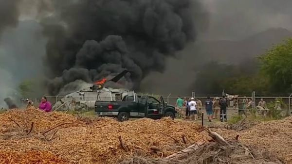 IMAGE: Marine helicopter accident in Hawaii