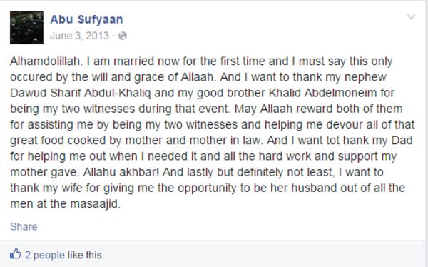 IMAGE: Usaamah Rahim Facebook post