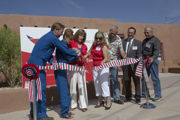 Image: inaugural tour of Spaceport America in New Mexico