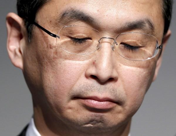 Image: Takata Corp Chief Executive Shigehisa Takada