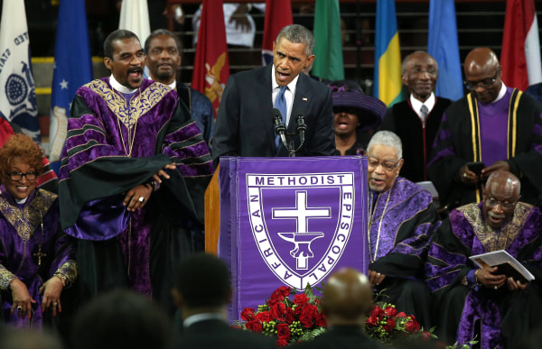 Image: President Obama Joins Mourners At Funeral Of Rev. Clementa Pinckney