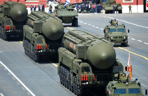 Image: Russian RS-24 Yars/SS-27 Mod 2 solid-propellant intercontinental ballistic missiles