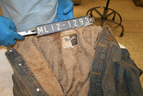 Image: Jacket of a missing person whose body was found along the border, but has not been identified.