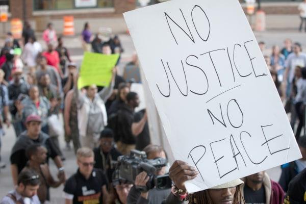 Image: NO JUSTICE NO PEACE