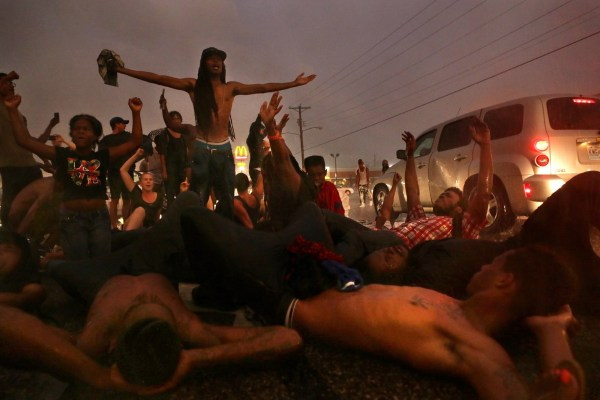 Image: Protest in Ferguson, Missouri