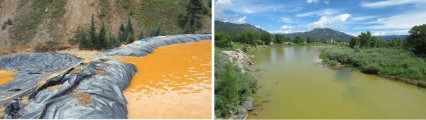 IMAGE: Comparison of Animas River on Friday and Sunday