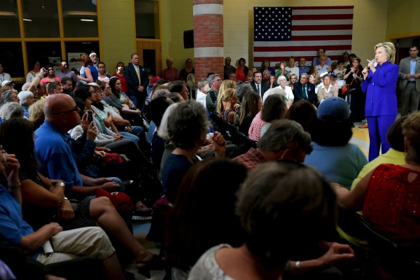 Image: Hillary Clinton in Keene, New Hampshire, on Aug. 11, 2015