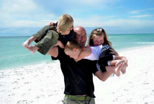 Image: Tech Sgt. Marty Bettelyoun and three of his kids