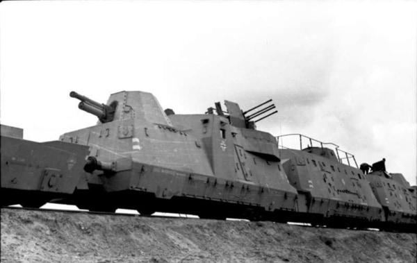 German armored train
