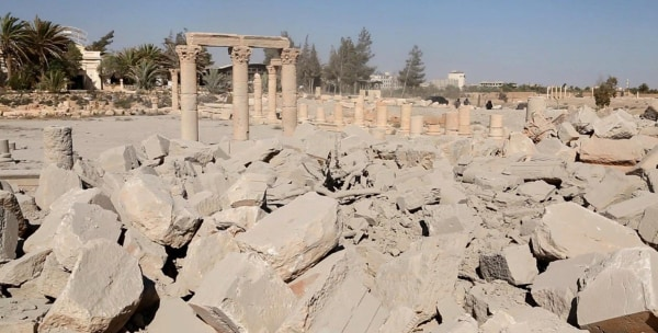 Image: ISIS image appears to show the ruins of the Baal Shamin temple
