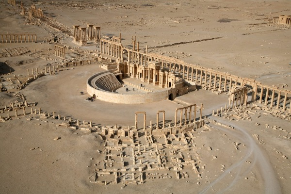 Image: Part of the ancient city of Palmyra in 2009
