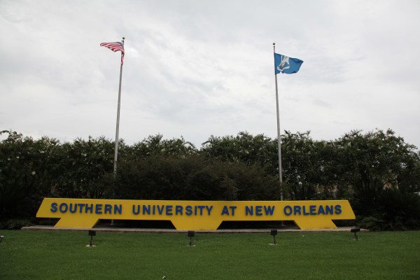 Image: The new Southern University at New Orleans sign.