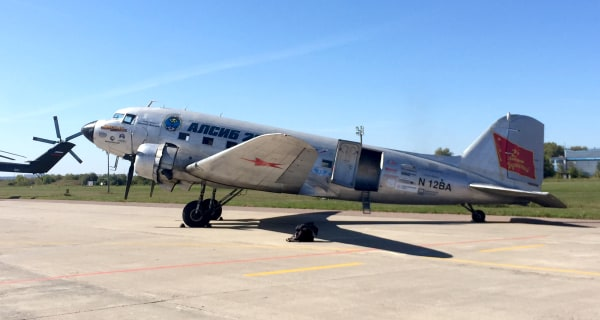Image: A DC-3 at the Ramenskoye airfield in Moscow