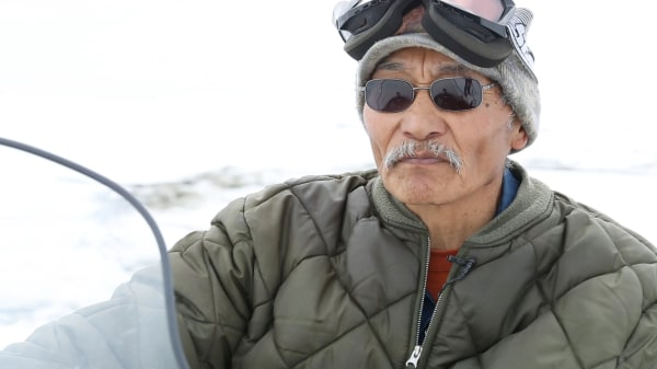 Image: Fred Goodhope, one of the elders in Shishmaref.