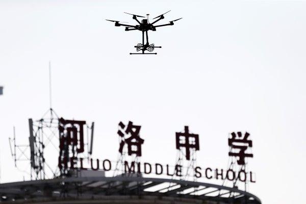 Image: China entrance exam uses drone to prevent student from cheating