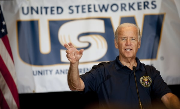 Image: Joe Biden at United Steelworkers headquarters