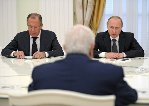 Image: Syrian Foreign Minister Walid Muallem visits Moscow