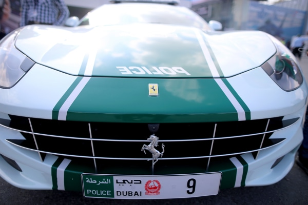 Image: A Dubai police Ferrari super car