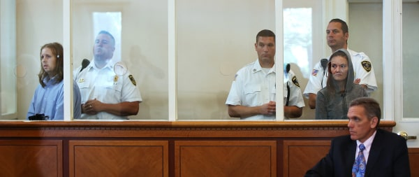 Image: Michael Patrick McCarthy and Rachelle Dee Bond are arraigned in court.