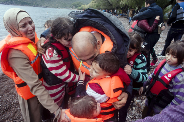 Image: TOPSHOTS-GREECE-EUROPE-MIGRANTS