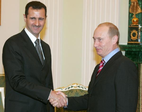 Image: Bashar Assad and Vladimir Putin on Dec. 19, 2006