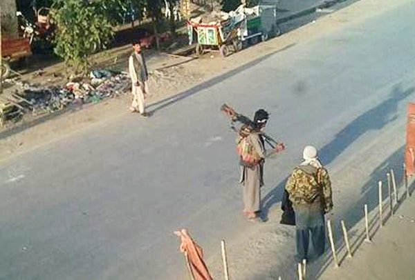 Image: Taliban fighters in Kunduz, Afghanistan, on Sept. 29