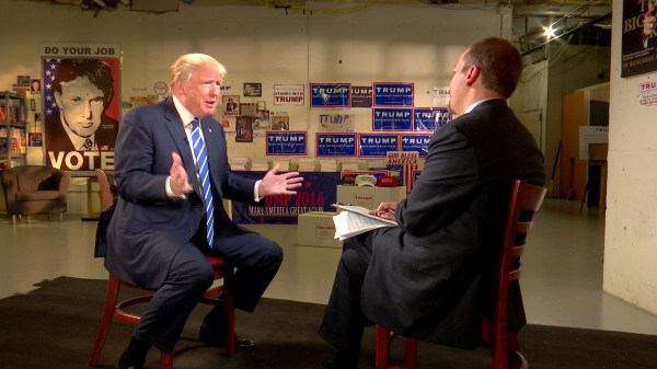 Image: Donald Trump interviewed by Chuck Todd