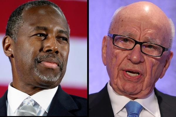 Image: Ben Carson (L) and Rupert Murdoch