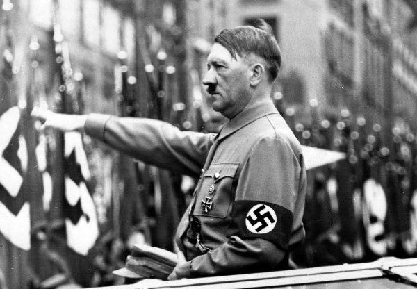 Image: Adolf Hitler in a Nazi propaganda image from 1937