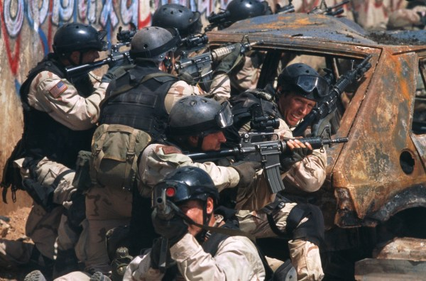 Image: A still from the movie Black Hawk Down