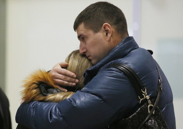 Image: Relatives of passengers