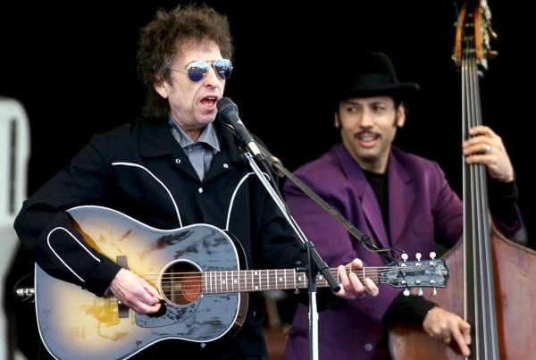 IMAGE: Bob Dylan in Ischgl, Austria, last month