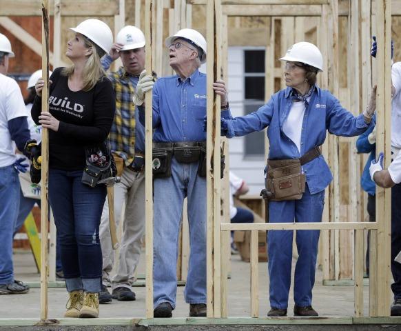 Image: Jimmy Carter, Rosalynn Carter, Garth Brooks, Trisha Yearwood