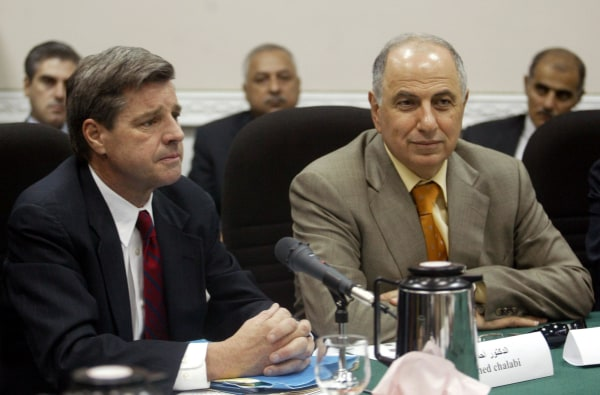 Image: Paul Bremer and Ahmad Chalabi in Baghdad on July 13, 2003