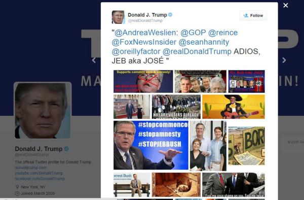 Image: Donald Trump's tweet