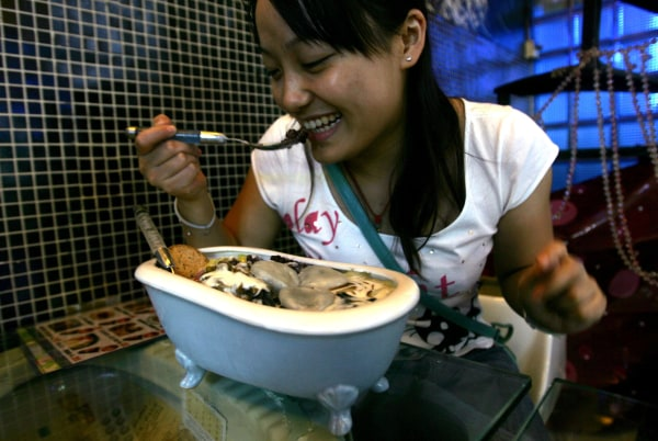Image: A diner eating