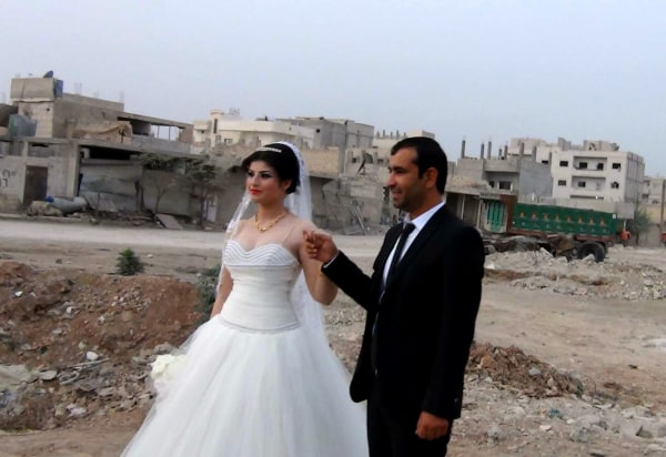 Image: Radwan Bizar and Fian Ayub on their wedding day