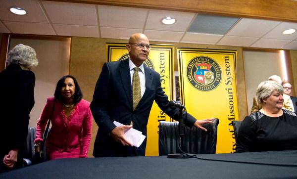 Image: MU interim President Mike Middleton